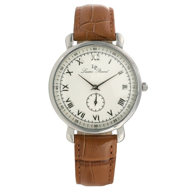 Lucien Piccard GTS Stainless Steel Brown Strap Watch