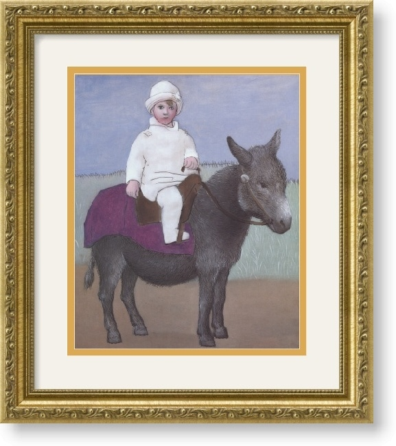 Pablo Picasso Paulo on a Donkey Framed Art Print
