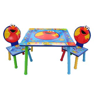 Sesame Street Wooden Table And Chair Set Case Of 2