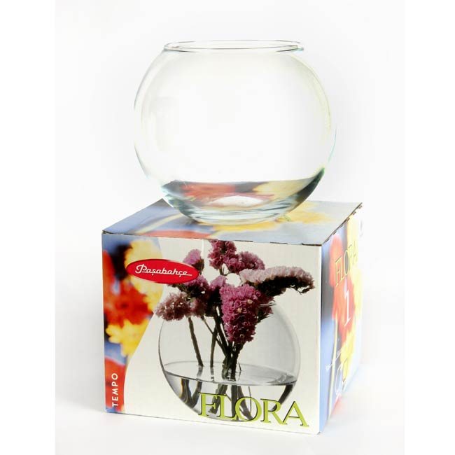 Fish Bowl Glass Vase (Case of 12)