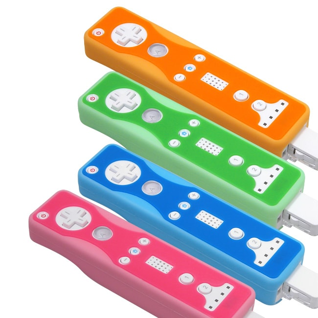 4 Colored Skins for Wii Remote Controls