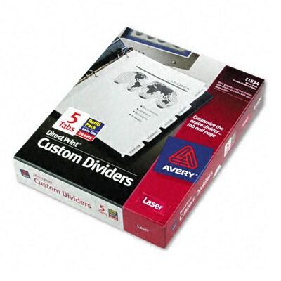 Avery direct print 3 hole iders for laser ink jet color laser 24