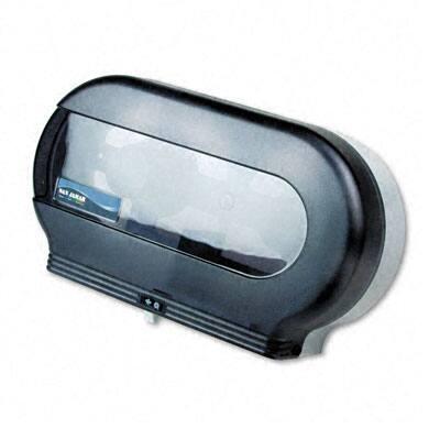 Twin Roll Jumbo Vision Bath Tissue Dispenser - Transparent Black
