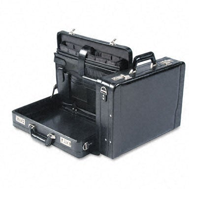 U.S. Luggage Leather Expandable Laptop Attache Briefcase