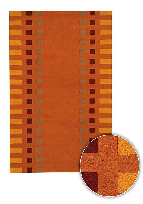 Hand-tufted Mandara Rug (8' x 11')