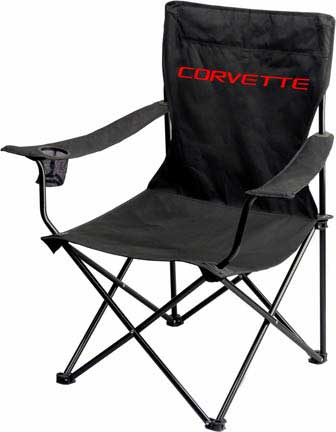 Folding Garage Chair With Corvette Nameplate Free