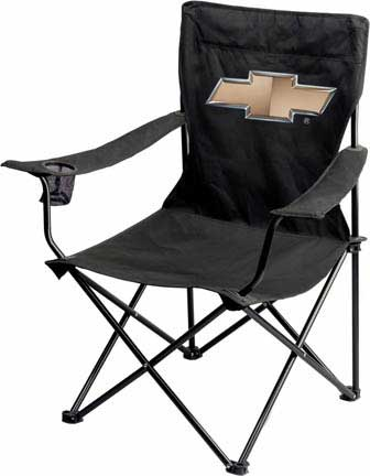Folding Garage Chair With Chevy Bowtie Emblem Free