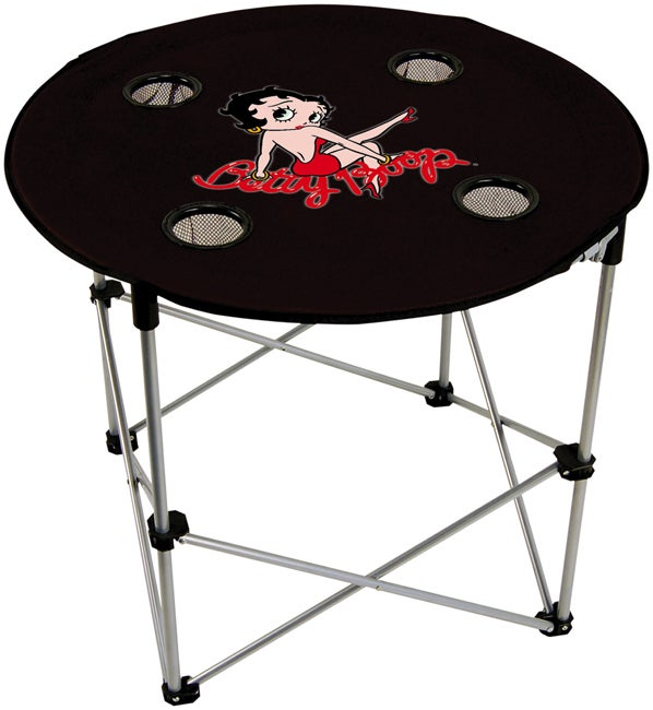 Betty Boop Black Folding Table Free Shipping On Orders