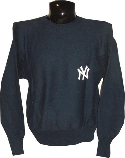 Yankees Game Used Navy Blue Sweatshirt