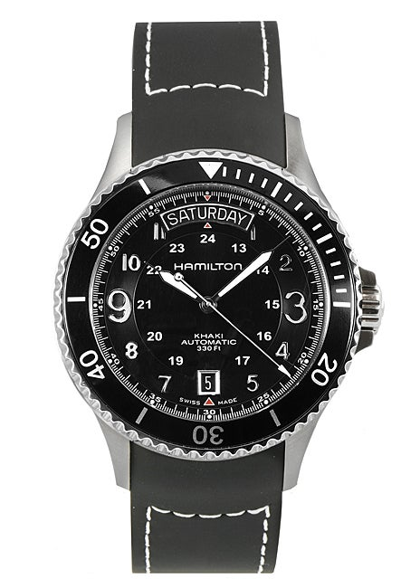 73ab8ff09 Shop Hamilton Khaki King Scuba Black Diver's Watch - Free Shipping Today -  Overstock - 2905213