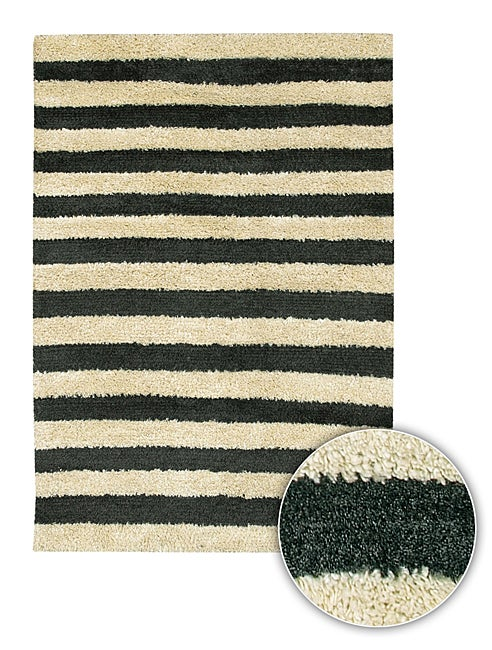 Hand-woven Majesta Contemporary Rug (8' Round)