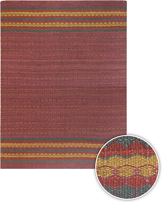 Handmade Transitional Mandara Rug (8' x 11')