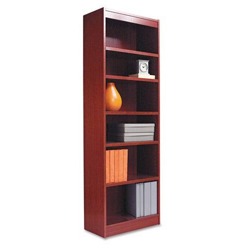 shop alera 24 inch wide wood veneer bookcase cherry free shipping today overstock 2941718. Black Bedroom Furniture Sets. Home Design Ideas