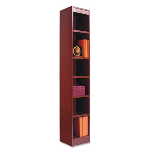 shop alera 12 inch wide wood veneer bookcase cherry free shipping today. Black Bedroom Furniture Sets. Home Design Ideas