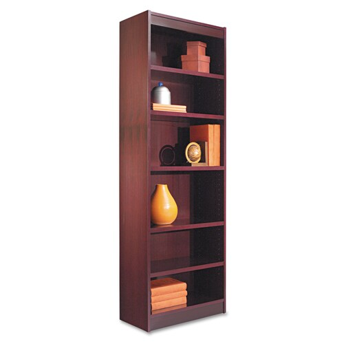 alera 24 inch wide wood veneer bookcase mahogany free shipping today 11106024. Black Bedroom Furniture Sets. Home Design Ideas