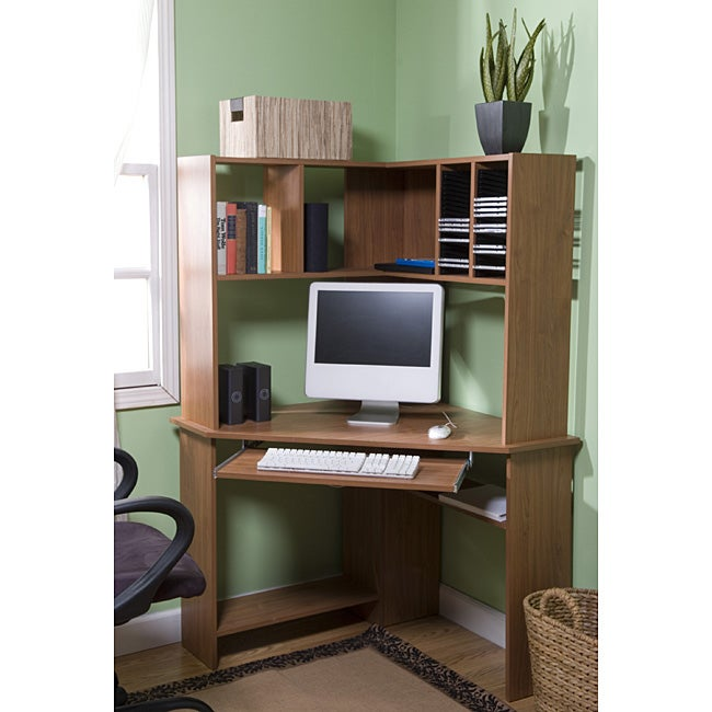 Simple Living Morgan Corner Computer Desk with Hutch - Thumbnail 0