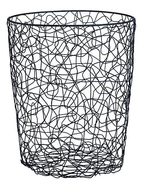 Wire Waste Paper Basket wire chaos round wastebasket - free shipping on orders over $45