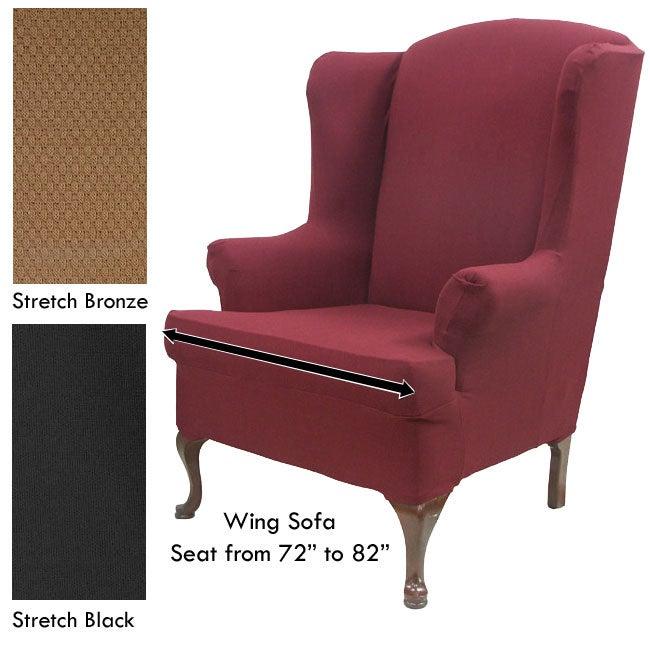 Stretch Wingback Sofa Slipcover
