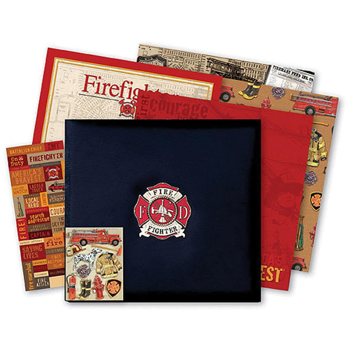 Postbound Firefighter Scrapbook Album