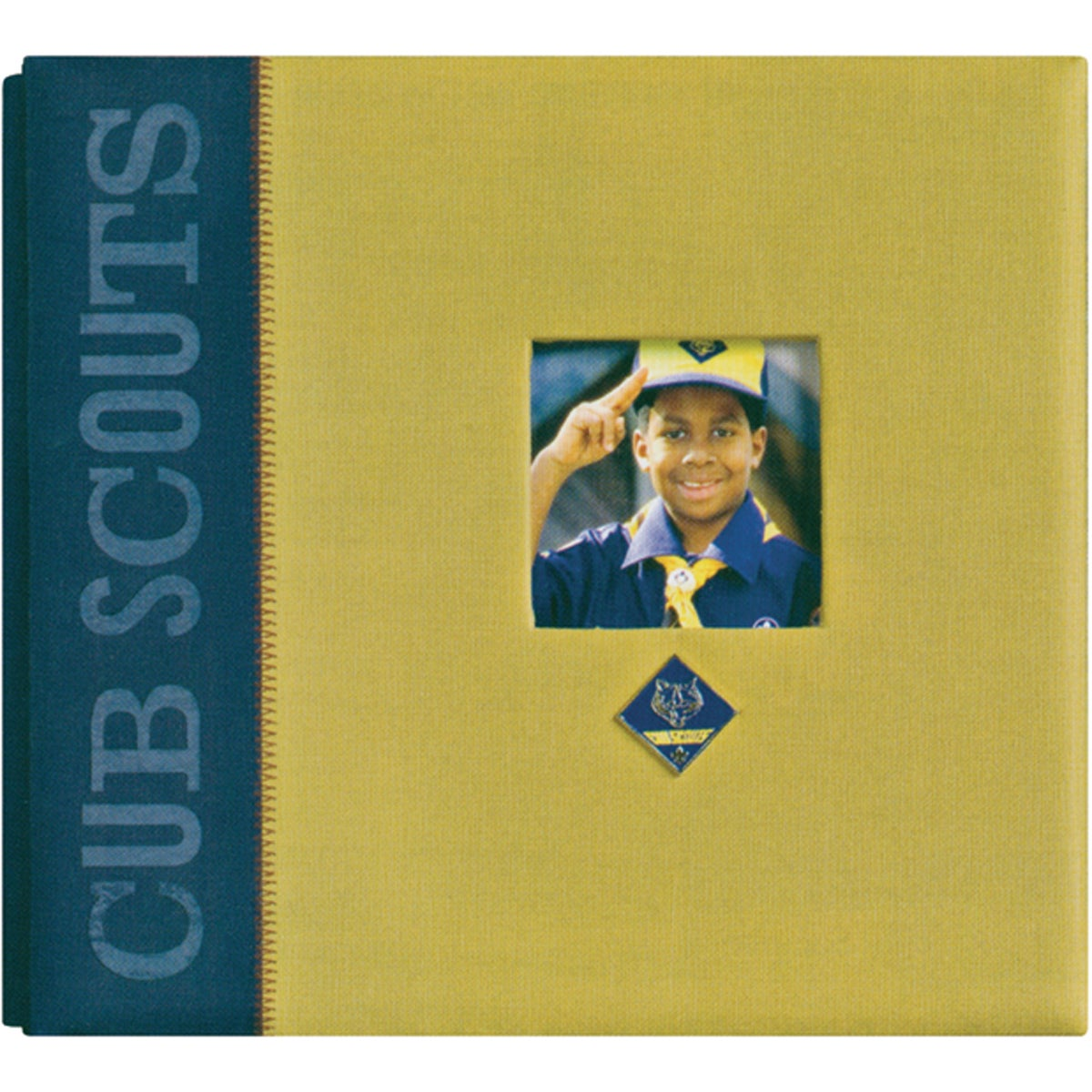 Classic Post-bound Cub Scouts Twill Scrapbook Album with Metal Emblem