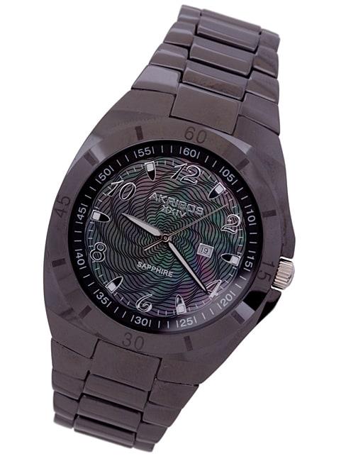 Akribos Men's Luxury XXIV 'Delfinus' Black Quartz Watch
