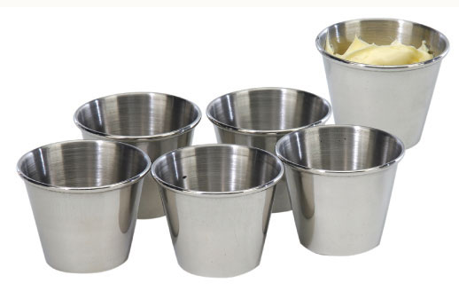 Stainless Steel 2.5-oz Sauce Cup (Set of 6)