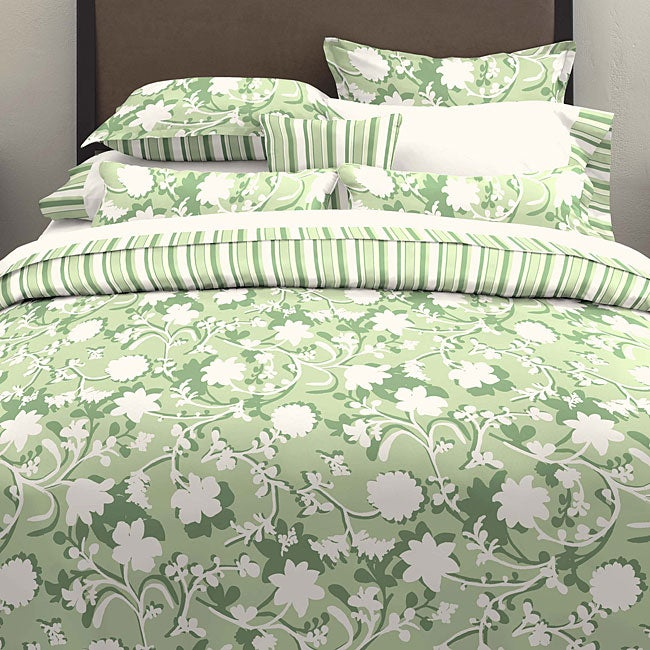 Silhouette Floral Green Bedding Ensemble - Thumbnail 0