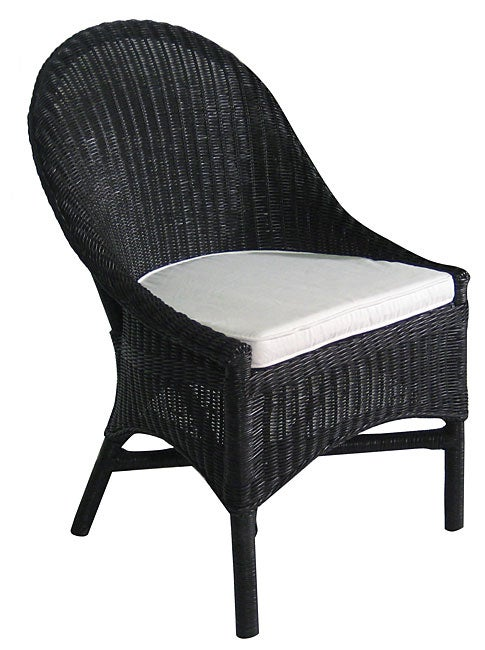 Casco Bay Black Wicker Dining Chair Free Shipping Today