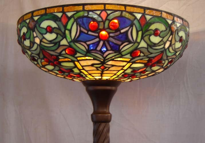 stained glass torchiere floor lamp