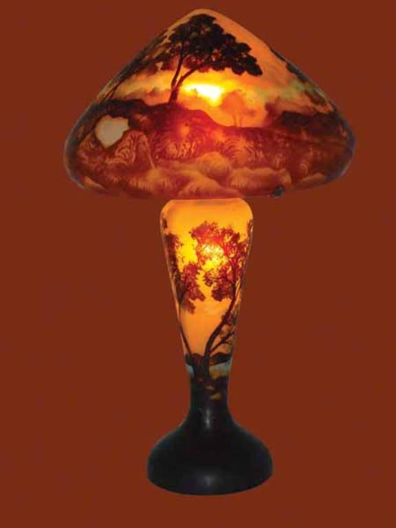 Cameo Glass Galle Sunset Table Lamp Free Shipping Today