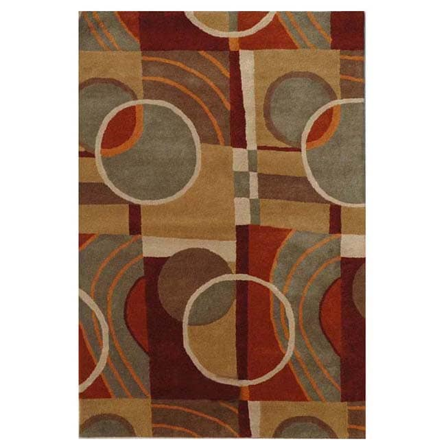 Hand-tufted Nenno Wool Rug (5' x 8') - Thumbnail 0