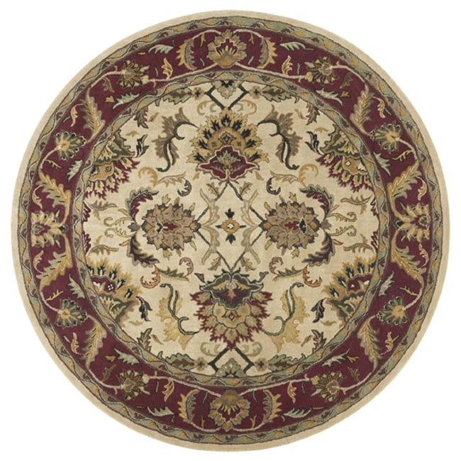 Handmade Elite Traditional Wool Rug (8' Round)