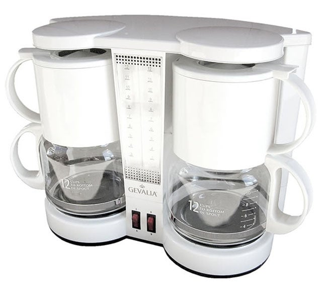 Cuisinart Coffee Maker Dual Cup : Gevalia Dual 12-cup Coffeemaker - Free Shipping Today - Overstock.com - 11160616