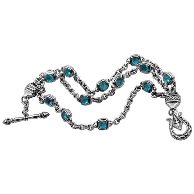 647709430 Shop Scott Kay Silver London Blue Topaz Bracelet - Free Shipping ...