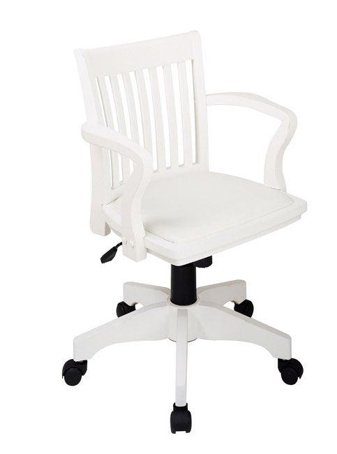 Office Star Wood Bankers Chair With Padded Seat Free