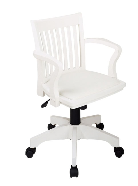 Office Star Wood Bankers Chair With Padded Seat