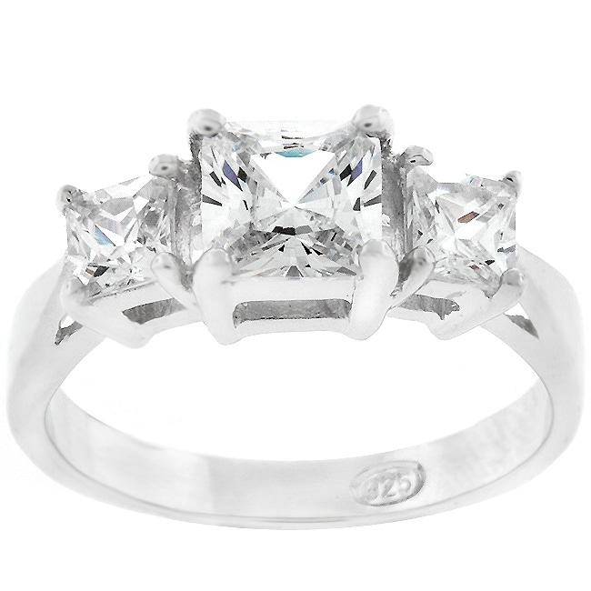 Sterling Silver Past Present Future CZ Ring