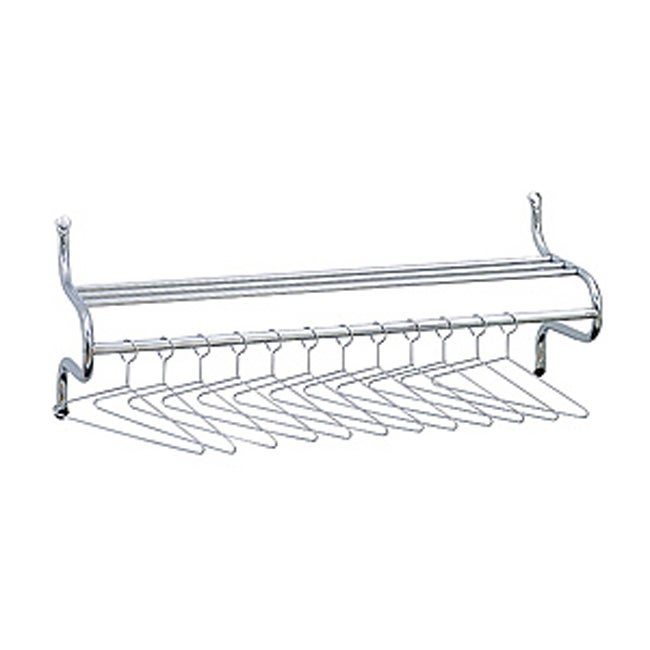 Safco Chrome Garment Rack with Hangers