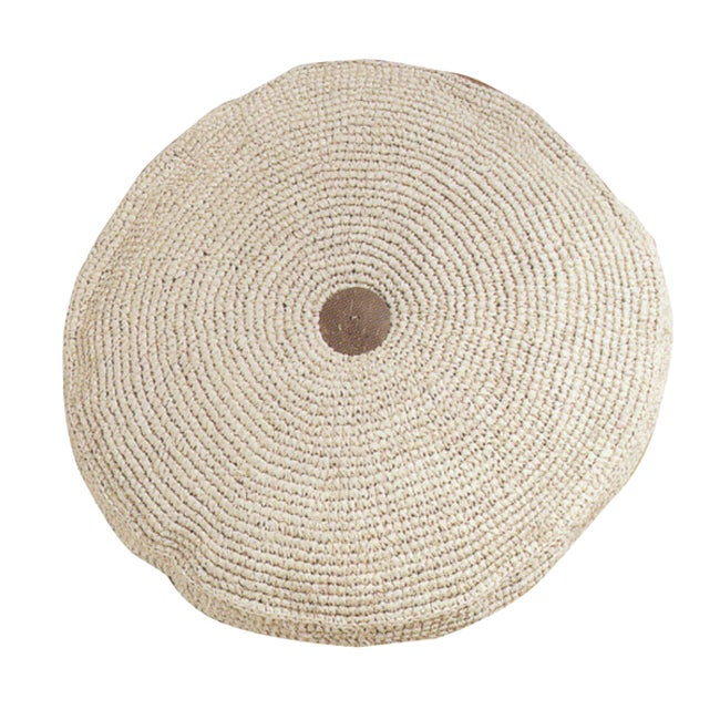 Woven Raffia Round Floor Pillow Free Shipping Today