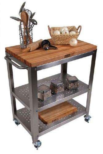 John Boos Cucina Culinarte Rolling Kitchen Cart Free