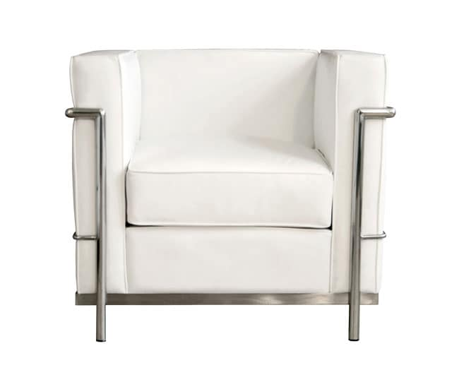 Mason White Leather Chair