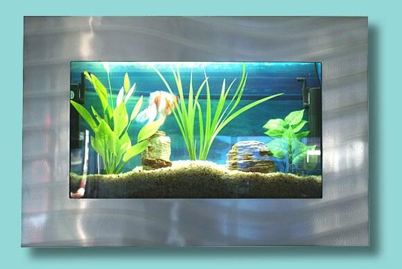 Artquarium Small Rectangular Wall Mounted Aquarium Free