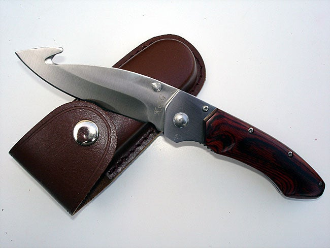 Hunting Knife with Gut Hook