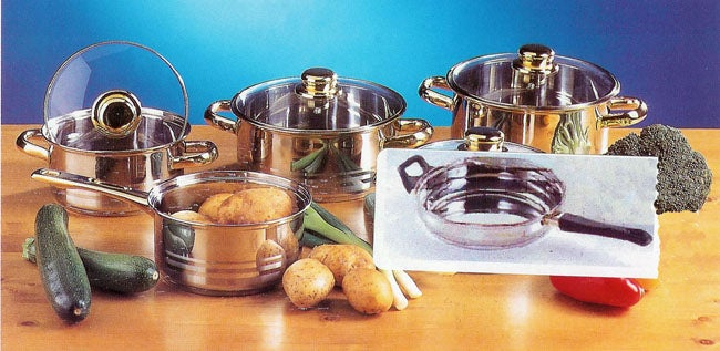 Gold Line 9-piece Stainless Steel Cookware Set