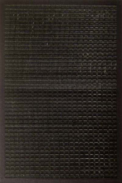 Black Woven Rayon from Bamboo Rug (5' x 7')