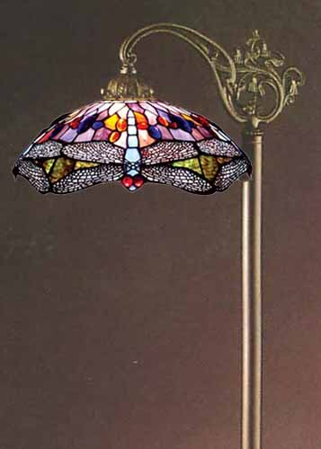 Tiffany Style Stained Glass Floor Bridge Lamp Free