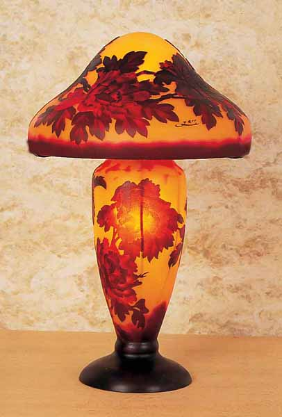 Cameo Glass Reproduction Galle Lamp Free Shipping Today
