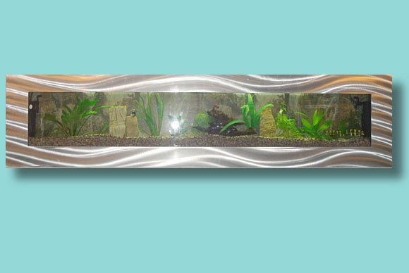 Artquarium Large Panoramic Wall-mounted Aquarium
