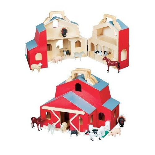 Melissa And Doug Fold And Go Toy Barn Free Shipping