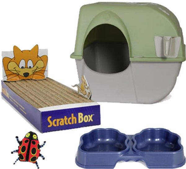 Omega Paw Roll n' Clean Mulit-cat Litter Box Combo